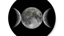Měsíc. Ouška. Jednoduchý.